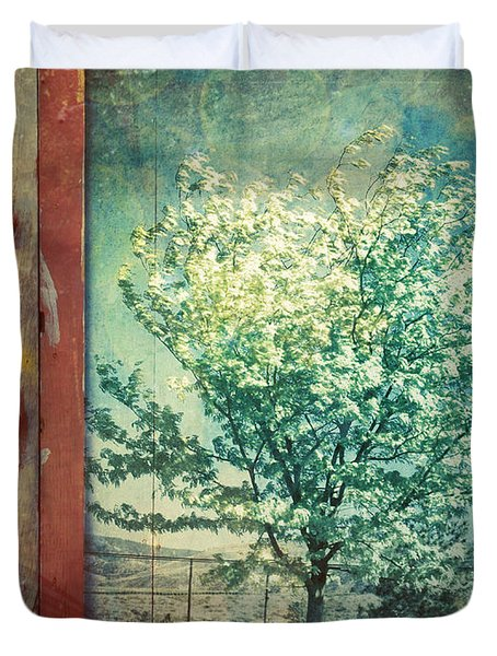 The Door And The Tree Duvet Cover by Tara Turner
