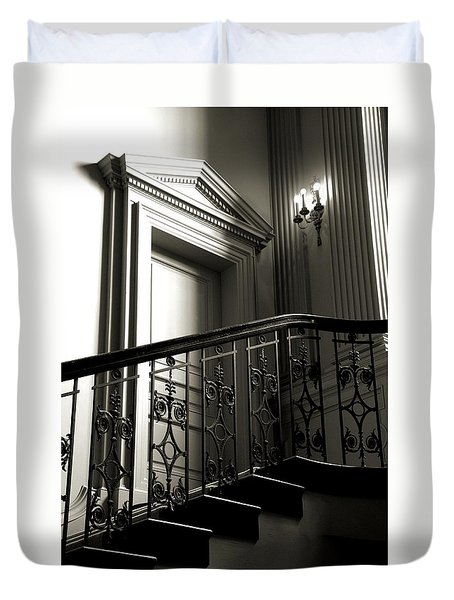 The Door At The Top Of The Stairs Duvet Cover by Bob Wall