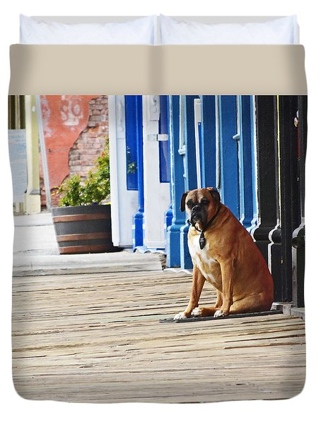 The Doorman Duvet Cover