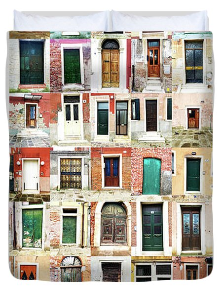 The Doors Of Murano Italy Duvet Cover