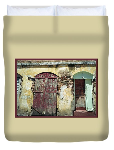 The Doors Of San Juan Duvet Cover