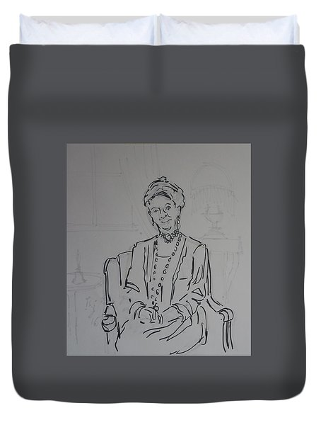 The Dowager Countess In Her Drawing Room At Dowton Abbey Duvet Cover