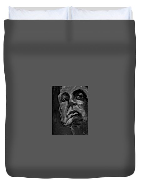The Downward Gaze Duvet Cover