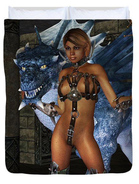 The Dragon Princess Duvet Cover by Alexander Butler