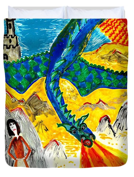 The Dragon Duvet Cover by Sushila Burgess