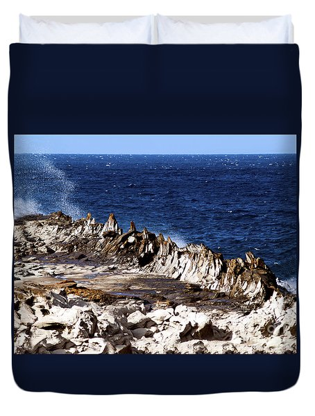 The Dragons Teeth II Duvet Cover by Patricia Griffin Brett