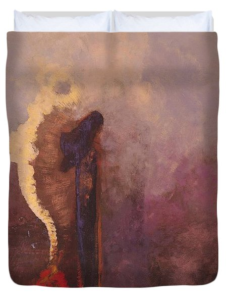 The Dream  Duvet Cover by Odilon Redon