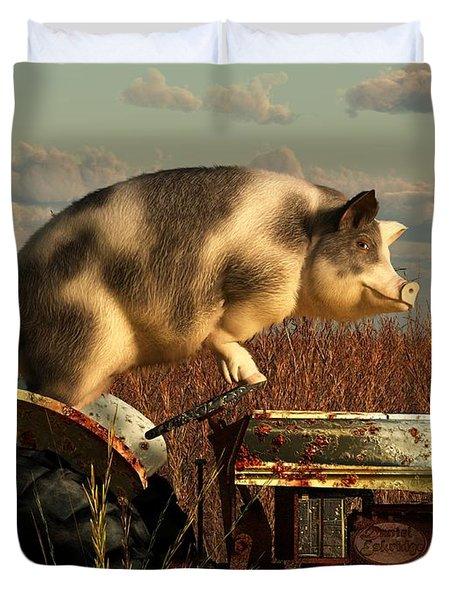 The Dream Of A Pig Duvet Cover