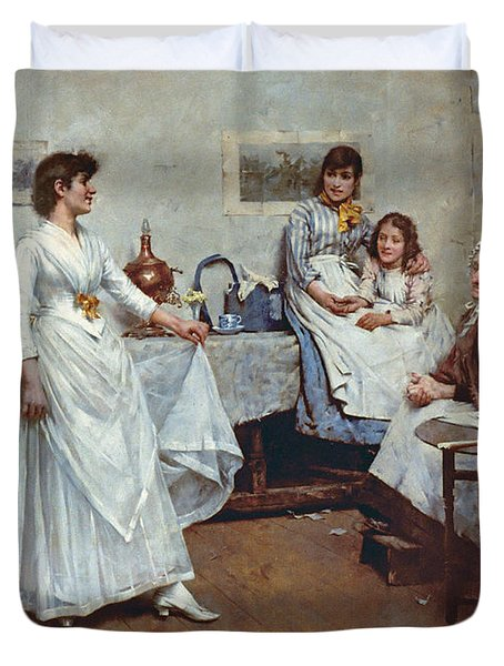 The Dress Rehearsal Duvet Cover by Albert Chevallier Tayler