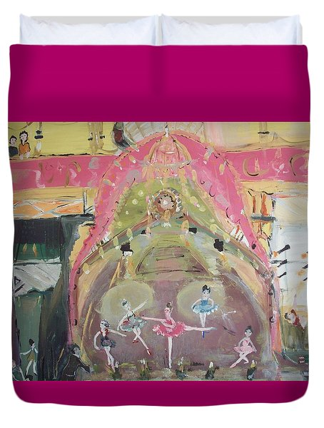 Duvet Cover featuring the painting The Dress Rehearsel by Judith Desrosiers