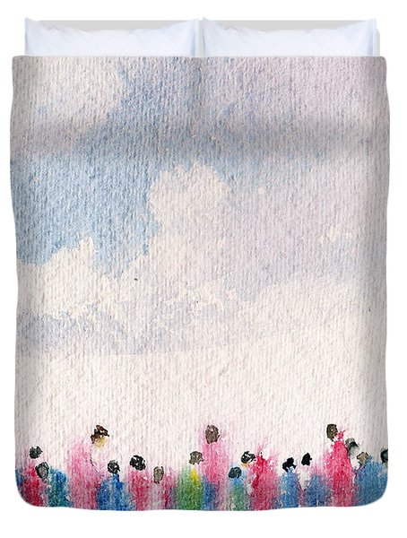 The Drifting People Duvet Cover