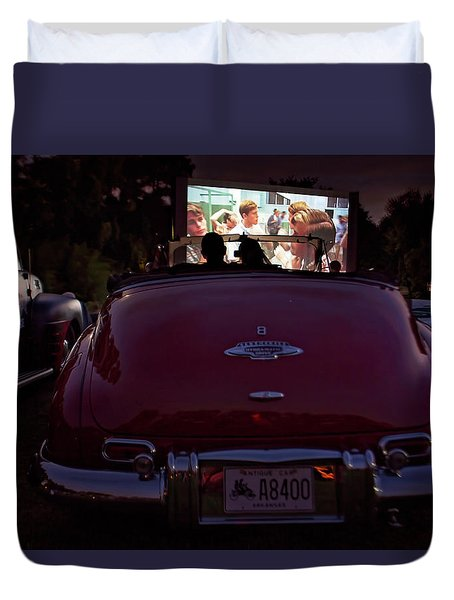 The Drive- In Duvet Cover