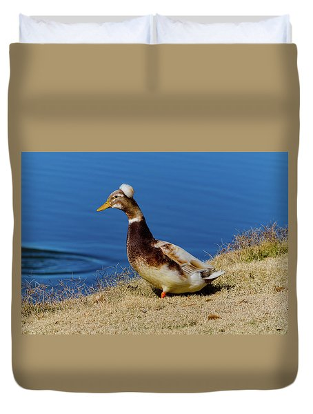 The Duck With The Pillbox Hat Duvet Cover