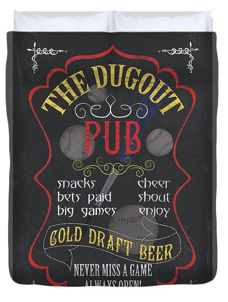 The Dugout Pub Duvet Cover