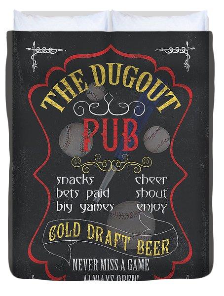 The Dugout Pub Duvet Cover