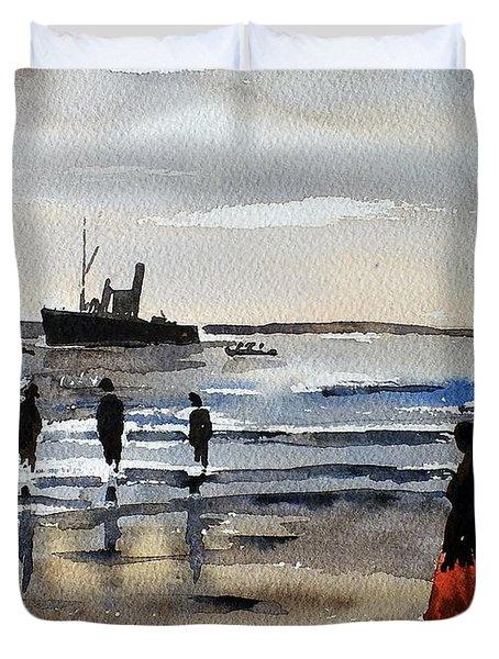 The Dun Aengus Off Aran, Galway Duvet Cover