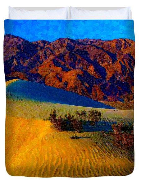 The Dunes At Dusk Duvet Cover