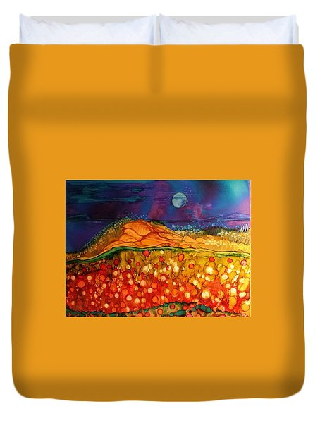 The Dunes At Night Duvet Cover