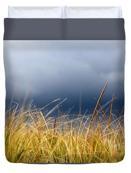 Duvet Cover featuring the photograph The Tall Grass Waves In The Wind by Dana DiPasquale