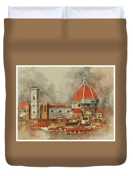 The Duomo Florence Duvet Cover