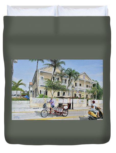 The Duval House, Key West, Florida Duvet Cover