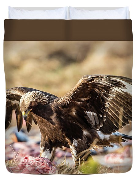 The Eagle Have Come Down Duvet Cover by Torbjorn Swenelius