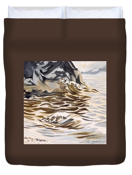 The Eagles Nest At Gower Point Duvet Cover