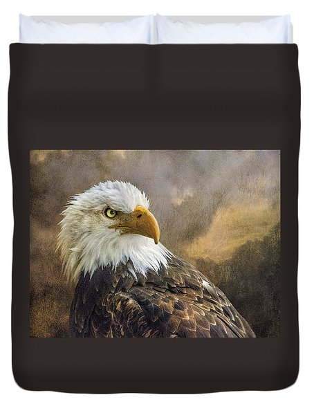 The Eagle's Stare Duvet Cover by Brian Tarr