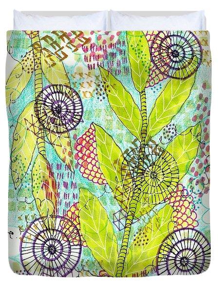 The Earth Dances Duvet Cover by Lisa Noneman