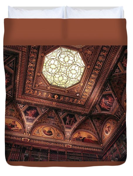 Duvet Cover featuring the photograph The East Room Ceiling by Jessica Jenney