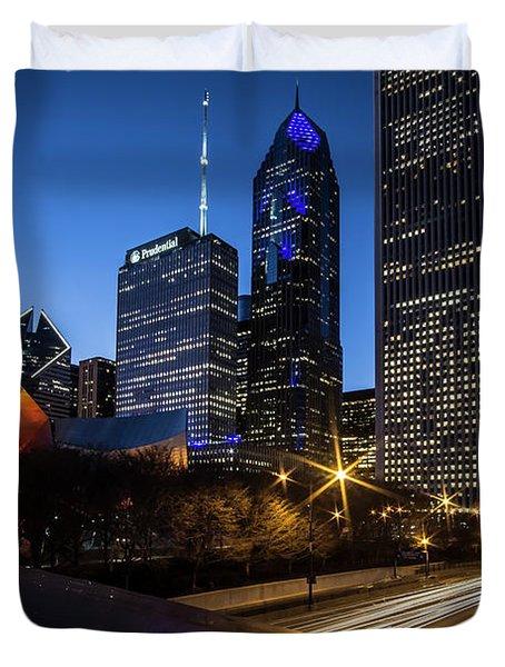 The East Side Skyline Of Chicago  Duvet Cover