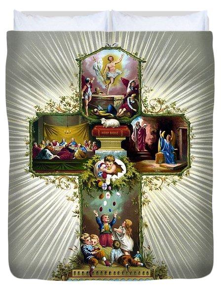 The Easter Cross Duvet Cover