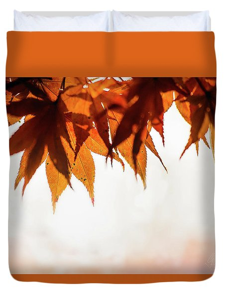 Duvet Cover featuring the photograph The Eaves Of Season by Gene Garnace
