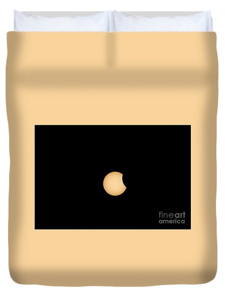 The Eclipse Begins Duvet Cover