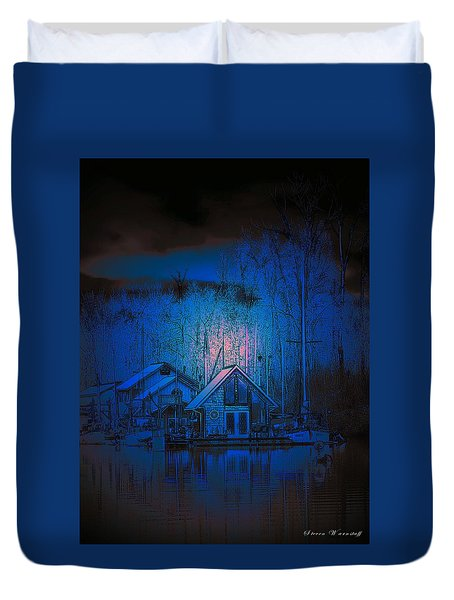 The Edge Of Night Duvet Cover by Steve Warnstaff