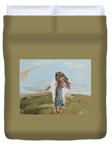 The Edge Of The Field Duvet Cover
