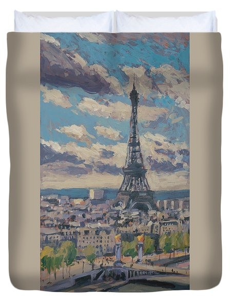 The Eiffel Tower Paris Duvet Cover