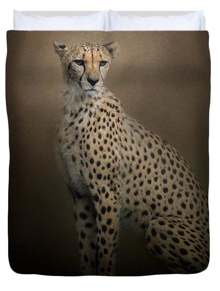 The Elegant Cheetah Duvet Cover by Jai Johnson