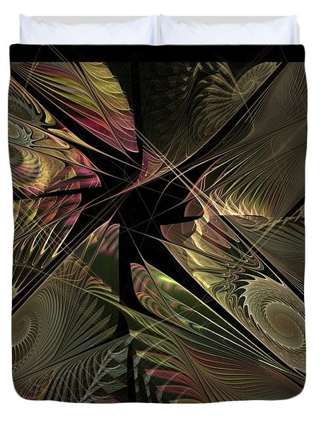 Duvet Cover featuring the digital art The Elementals - Calling The Corners by NirvanaBlues