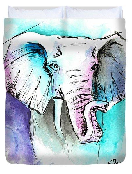 The Elephant King Duvet Cover
