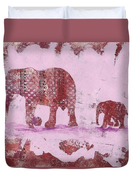 The Elephant March Duvet Cover