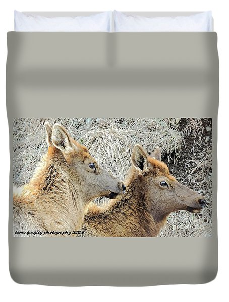 The Elk Of Winter  Duvet Cover