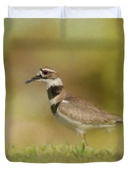 The Elusive Killdeer Duvet Cover