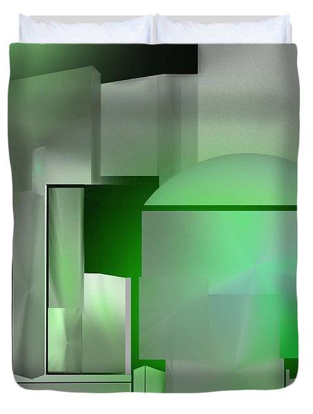 The Emerald City Duvet Cover by John Krakora