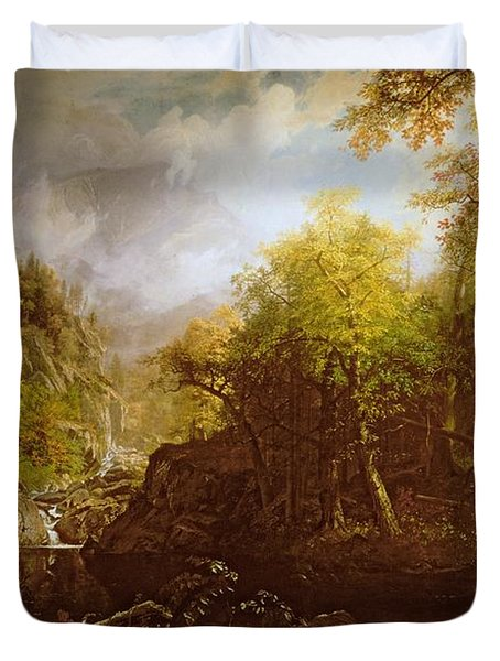 The Emerald Pool Duvet Cover by Albert Bierstadt