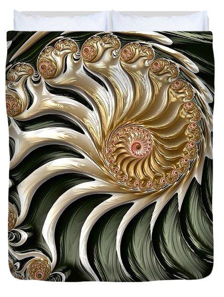 The Emerald Queen's Nautilus Duvet Cover by Susan Maxwell Schmidt