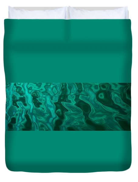 The Emerald Wave Duvet Cover
