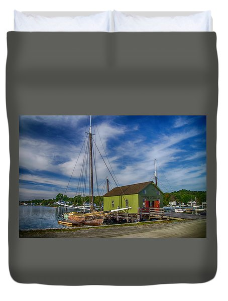 The Emma C. Berry, Mystic Seaport Museum Duvet Cover
