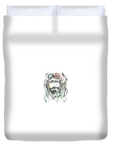 The Emotions Of Jesus Duvet Cover by Nadine Rippelmeyer