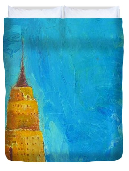 The Empire State Duvet Cover by Habib Ayat